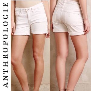 Anthropologie Pilcro Stet Roll-up Denim Shorts 26